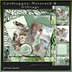Cardtopper 7x7 with inlet green Flower 239 on Craftsuprint - View Now!