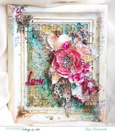 This piece, a beautifully altered frame by Aga Baraniak, is gorgeously filled with mixed-media elements! No matter what your style our products will work...from simple and classic to dark and vintage, to everything in between!