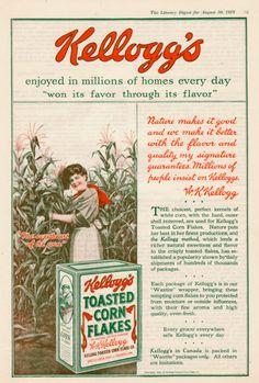 Kellogg's Corn Flakes vintage ad