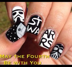 May The Fourth Be With You. Star Wars nail art.