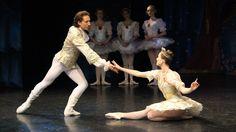 Rhiannon Pelletier as Princess Aurora and Nathaniel Dombek as Prince Florimund.