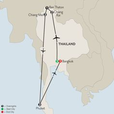 Best of Thailand with Phuket 2016 map
