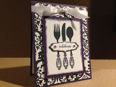 Celebrate Invitation Custom Hand Made Card using by FMNPaperie
