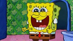 Photo of SpongeBob Photo for fans of Happy Square Sponge. The Photo By Trey Cartoon Fan, Cartoon Shows, Cartoon Drawings, Squidward Art, G Song, Jw Humor, Funny Spongebob Memes, Pineapple Under The Sea, Square Pants