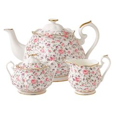 Rose Confetti Bone China Tea Set