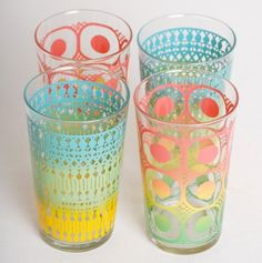 Set of 4 MOD Drinking Glasses