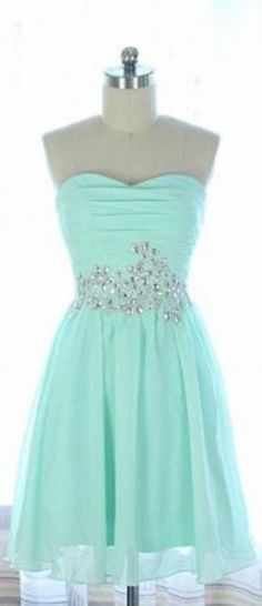 Mint Green Homecoming Dress,Chiffon