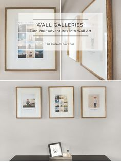 """""""This new gallery rocks for three reasons: • Because the collages are simple, yet stunning. • Because the frames are gorgeous, large and complimentary to my home. • Because it's the perfect way to showcase my family's photos."""" - Brit of Brit Chandler Photography #designaglow"""