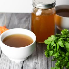 """This Slow Cooker """"Better Than Botox"""" Bone Broth is full of natural collagen! Make chicken, pork or beef stock using kitchen scraps and this simple crockpot method.   platingsandpairings.com"""