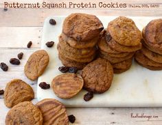 Recipe: Gut Healthy Butternut Squash Protein Cookies (Paleo, SCD, GAPS) post image, need to tweak for thm Paleo Recipes, Real Food Recipes, Paleo Ideas, Flour Recipes, Protein Recipes, Protein Snacks, High Protein, Cookie Recipes, Healthy Snacks