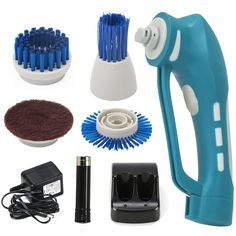 Electric Cleaning Brush Power Spin Scrubber Brushes For Bathroom Tubs Sinks Baseboards Fiberglass Shower Enclosures Shower door tracks Porcelain and