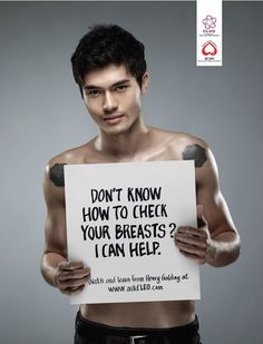 Cleo Magazine Campaign Against Breast Cancer - Agency Unknown | #Advertising #Campaign |