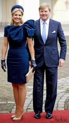 08 November 2013 King Philippe and Queen Mathilde visited King Willem-Alexander and Queen Maxima at palace Noordeinde in The Hague