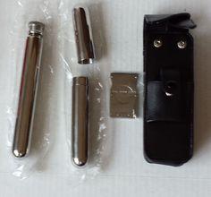 Leather Cigar Case Flask stainless steel 0.5 ga Cigar Tube .52 ga Cigar Cutter