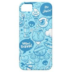 Graffity light blue funny drawings cover for iPhone 5/5S #graffity #graffitystyle #iphonecases #iphonecase #cool
