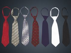 Pattern ties $7