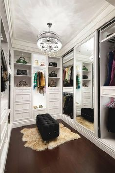 If youre dreaming of a luxury walk-in closet in your home, youre definitely not alone. Visit our gallery of luxurious walk-in closet designs. House Design, Decor, Luxury Closet, Closet Vanity, Closet Designs, Home, Interior, Closet Bedroom, Closet Remodel