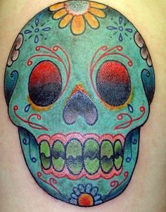 ... pics on Pinterest | Sugar skull tattoos Sugar skull and Skull tattoos