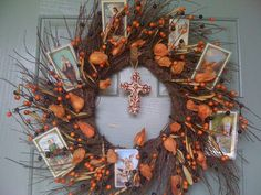 I'm trying to figure out a way to create an All Saints Day and Reformation Day combined wreath.