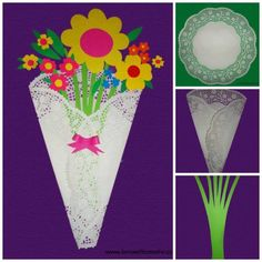 Mother's Day ideas Craft Stick Crafts, Preschool Crafts, Crafts To Make, Diy Paper, Paper Crafts, Doilies Crafts, Mothering Sunday, Mom Day, Mothers Day Crafts