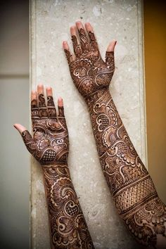 Intricate bridal henna. Wedding mehendi