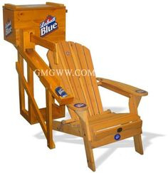 GMG Unique Solutions: Drink-Dispensing Adirondack Chair and Cooler