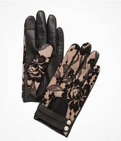 Love these LACE TOP LEATHER DRIVING GLOVES | #Express
