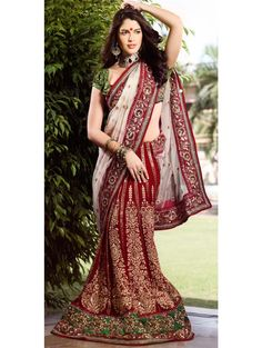Gorgeous Wedding Lehanga Saree