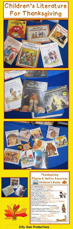 Children's Literature for Thanksgiving, Pilgrims and Native Americans. Create a whole unit using these wonderful books!