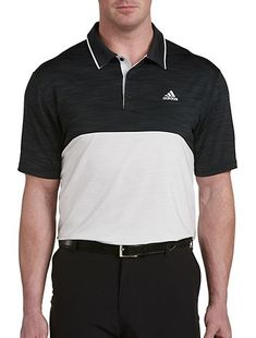 1448641f3f4 adidas Golf Ultimate Heather Colorblock Polo. Big And Tall StoresAdidas  GolfMens ...