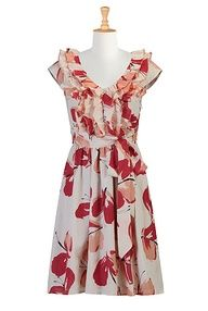 Ruffle front silk print #dress. #Customise free - size shape style colour perfect #fit. Incredible.