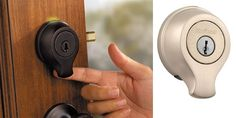 Kwikset SmartScan is an ANSI Grade-1 deadbolt with a fingerprint scanner, allowing keyless entry for up to 50 of our closest approved users and at specific times (perfect for times when service/help or guests arrive). Worried you'll somehow get locked out if the scanner fails? There's a key backup too, so you can rest those nerves. Available from Home Depot for $199, making this one pricey lock (but one we'd happily like for our own place).
