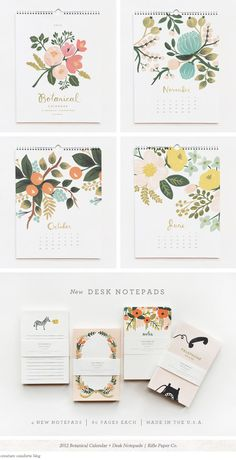The colors, illustrations, white space - everything is gorgeous about these!