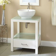 "24"" Mila Console Vanity with Vessel Sink"