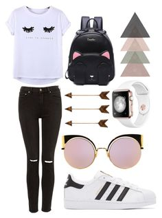 """would you wear it ?"" by mikayla-fenech ❤ liked on Polyvore featuring Chicnova Fashion, adidas Originals and Fendi"