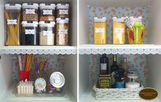 Organize sem Frescuras!: Dicas lá de casa- despensa organizada e de cara nova!