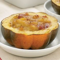 Recipe:  Baked Acorn Squash with Cranberry Horseradish Sauce - Click to enlarge