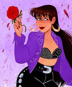 "@selenaqofficial ❤️ on Instagram: ""Credit: mcnuggyy on tumblr"" Selena Quintanilla Perez, Selena Pictures, Beyonce Fans, Fashion Illustration Vintage, Chicano Art, Mexican Art, Disney Dream, Best Artist, Red Roses"