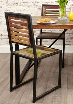 Industrial Chic Dining Chair (Pair) | Hampshire Furniture