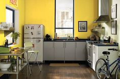 Le jaune moutarde, une teinte rétro
