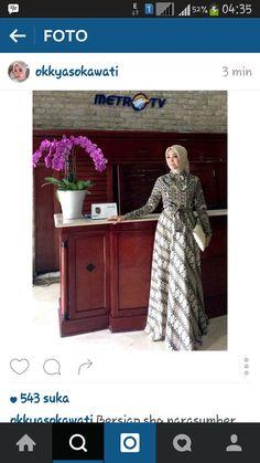 Batik Fashion, Abaya Fashion, Muslim Fashion, Diy Fashion, Batik Muslim, Kebaya Muslim, Muslim Dress, Batik Kebaya, Kebaya Dress
