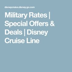 Military Rates | Special Offers & Deals | Disney Cruise Line