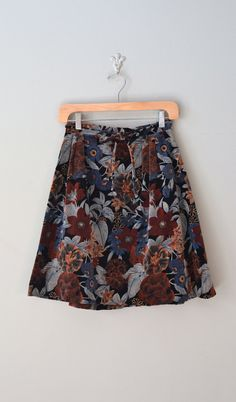 vintage mini skirt / velvet skirt / Night Belle skirt