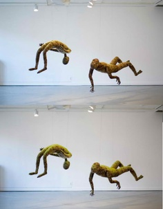 Suspended Grass Figures Grow in Galleries