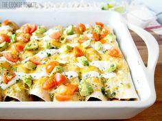 chicken & sweet potato enchiladas! these are AMAZING. i need these!