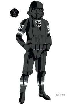"STORM TROOPER ""Los Angeles Kings"" ARMOR limited edition art print on Etsy, $3.99"