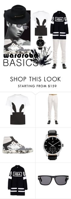 """""""Menswear Wardrobe Basics"""" by coppin-s ❤ liked on Polyvore featuring McQ by Alexander McQueen, Etro, Balenciaga, Hood by Air, Oliver Peoples, mens, men, men's wear, mens wear and male"""