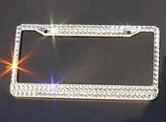 Carfond 9 Cuts Big Square Crystal Rhinestones Super Bling-bling Sparkling Stainless Steel License Plate Frame With 2 Matching Screw Caps Mother's Day gifts Carfond http://www.amazon.com/dp/B00UT26T68/ref=cm_sw_r_pi_dp_loUuvb0W20QP7
