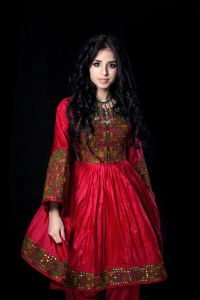Red afghan dress pictures