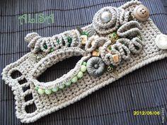 freeform crochet bracelets, crochet cuff